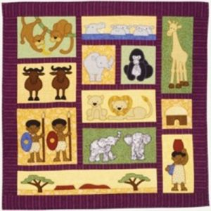 AFRICAN QUILT pattern or kit