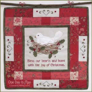 The JOY of CHRISTMAS wallhanging pattern