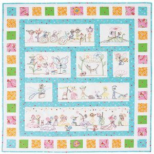 PIXIE QUILT preprinted and pattern