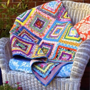 PLEATED LOG CABIN QUILT pattern