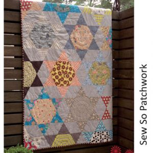 STARSTRUCK quilt pattern includes perspex template